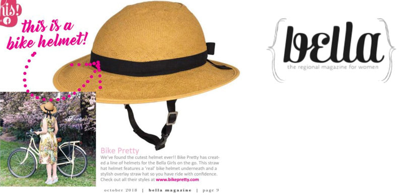 Bike Pretty Straw Hat Bike Helmet in Bella Magazine