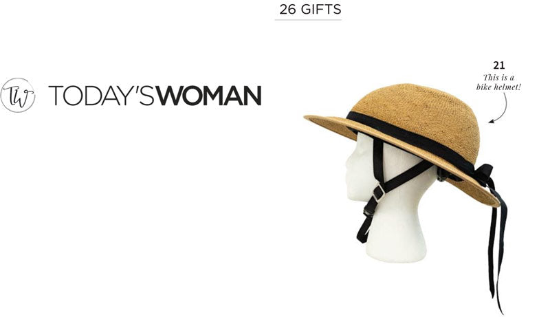 Bike Pretty Straw Hat Bike Helmet in Today's Woman Gift Guide
