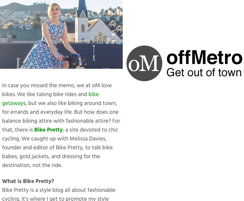 Off Metro Interview with Bike Pretty Founder Melissa Davies
