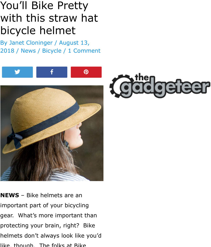 Bike Pretty Straw Hat Bike Helmets in The Gadgeteer