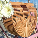 Half Circle Bamboo Bike Bag