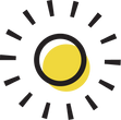 Icon of the sun and rays