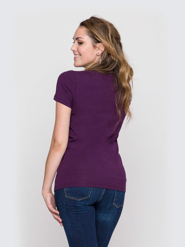 Two Blind Brothers - Womens V-Neck Plum