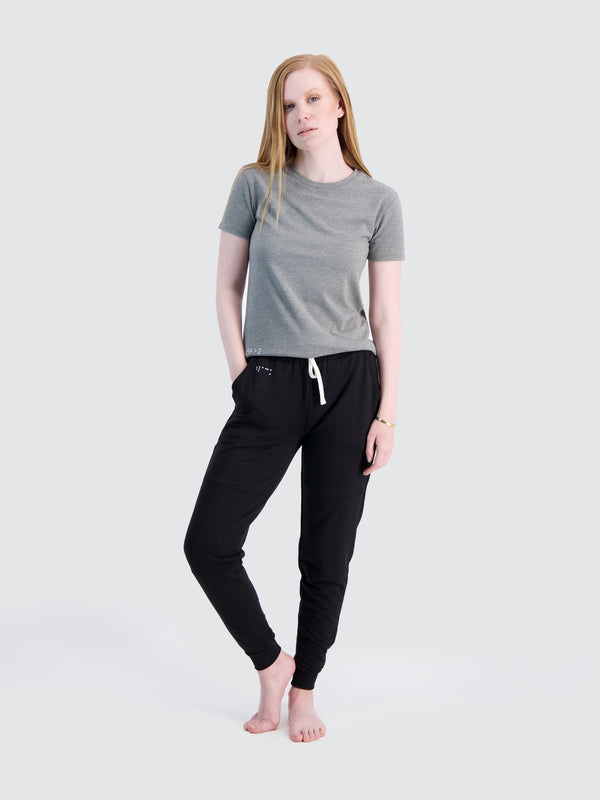 Two Blind Brothers - Womens Women's French Terry Jogger Black