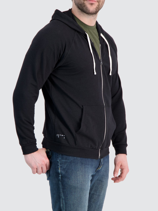 Two Blind Brothers - Mens Men's Zip-Up Hoodie Black