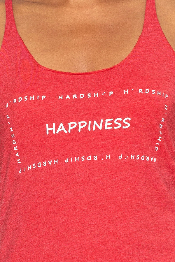 Two Blind Brothers - Womens Happiness in the Hardship Graphic Tank all