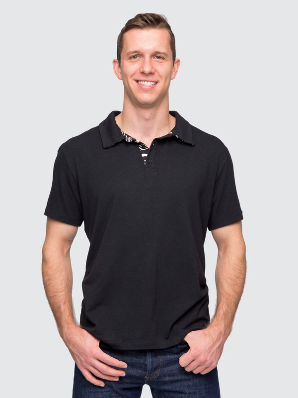 Two Blind Brothers - Mens Men's Short Sleeve Polo Black