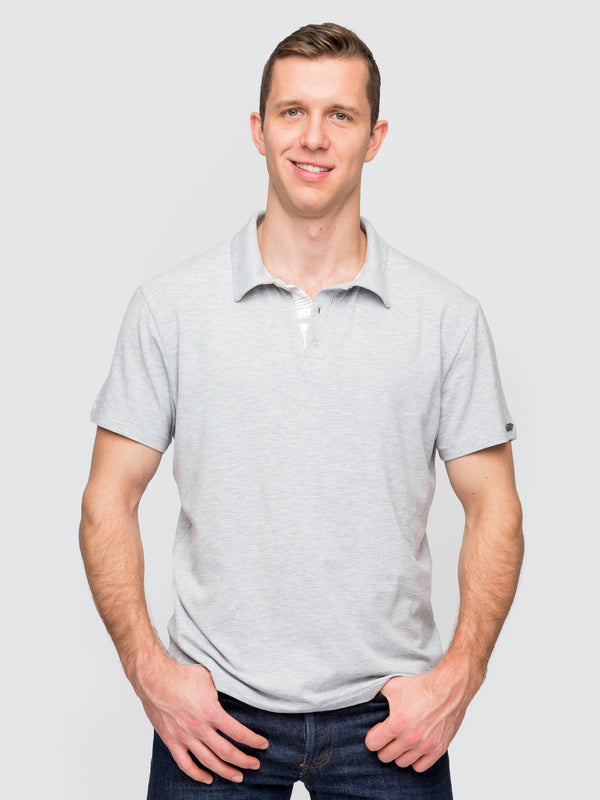 Two Blind Brothers - Mens Men's Short Sleeve Polo Light-Grey