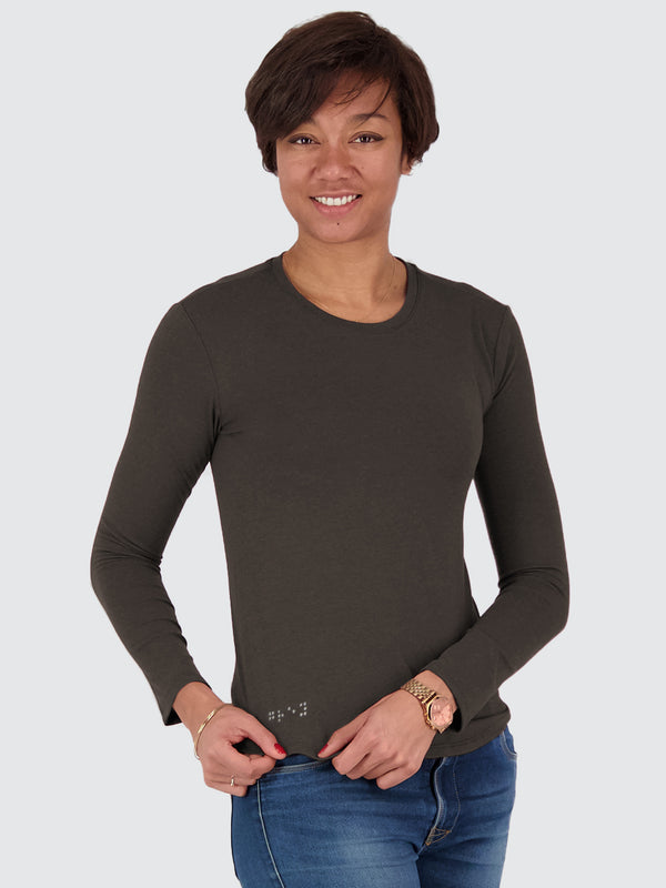 Two Blind Brothers - Womens Women's Long Sleeve Crewneck Graphite-Grey