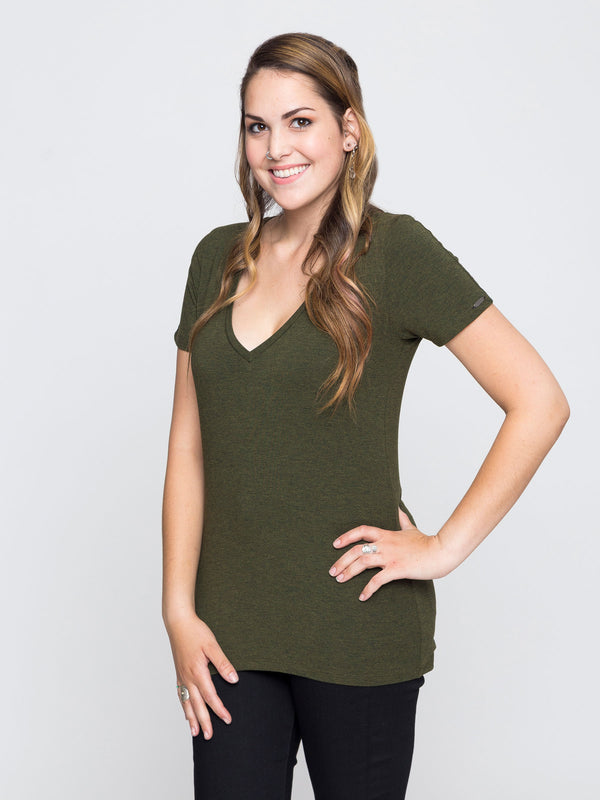 Two Blind Brothers - Womens V-Neck Forest