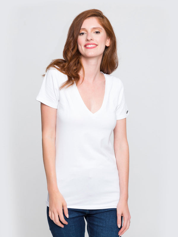 Two Blind Brothers - Womens V-Neck White