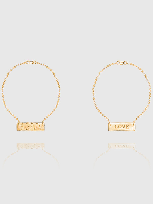 Two Blind Brothers - Gift Love is Blind Gold Plated Bracelet all