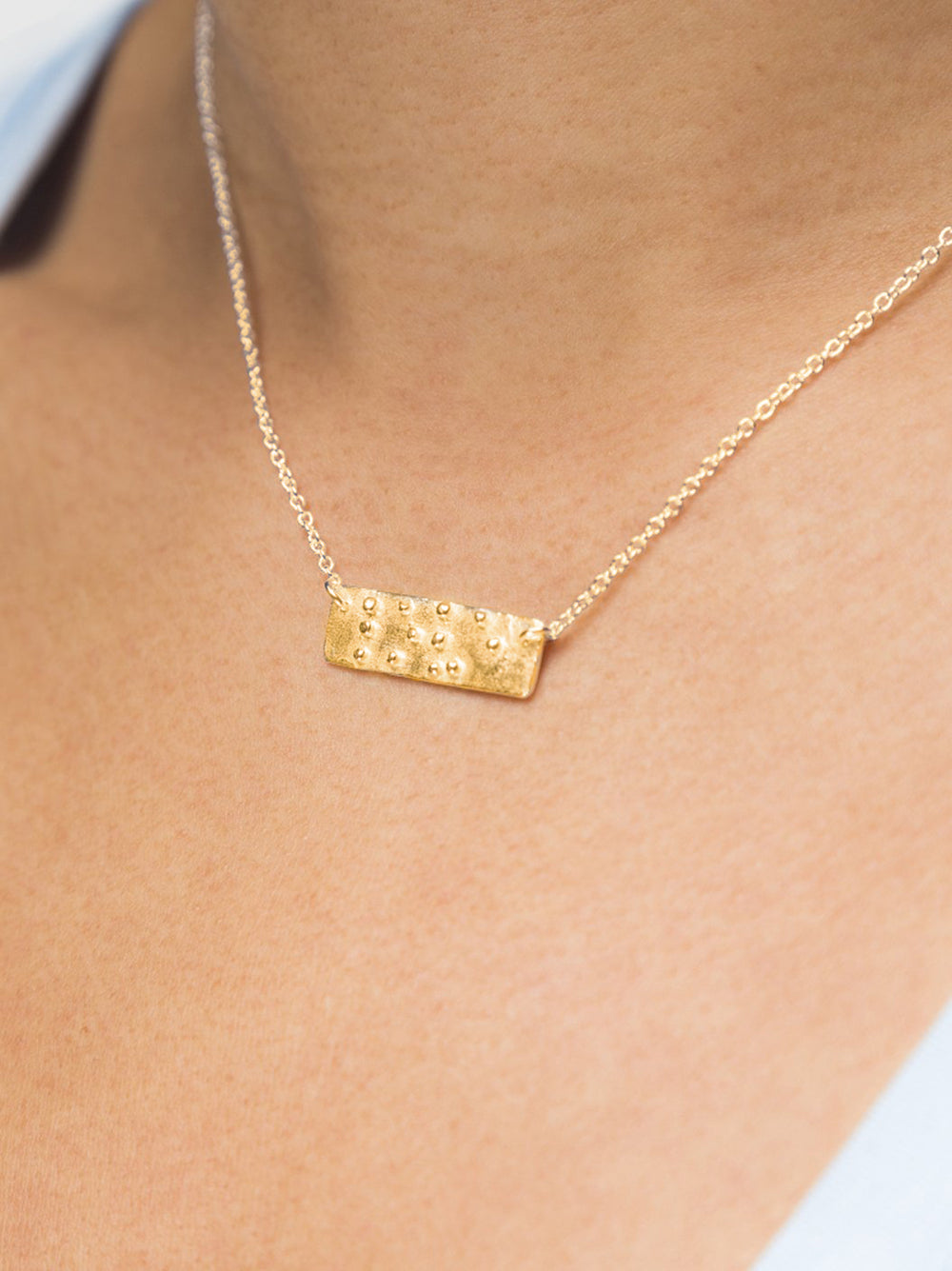 Two Blind Brothers - Gift Love is Blind Gold Plated Necklace Love-is-Blind-Gold-Plated-Necklace