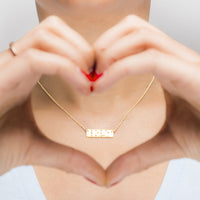 Love-is-Blind-Gold-Plated-Necklace thumbnail