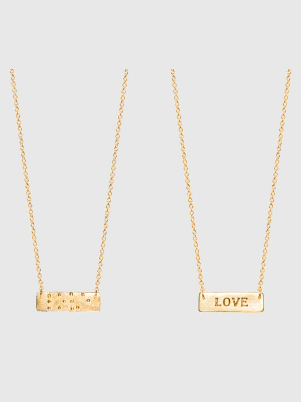 Two Blind Brothers -  Love is Blind Gold Plated Necklace all