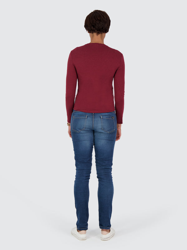 Two Blind Brothers - Womens Women's Long Sleeve Crewneck Maroon