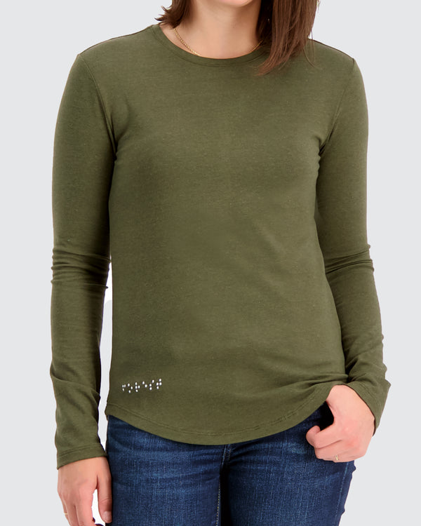 Two Blind Brothers - Womens Women's Long Sleeve Crewneck Forest