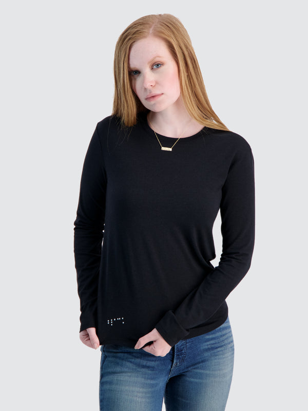 Two Blind Brothers - Womens Women's Long Sleeve Crewneck Black