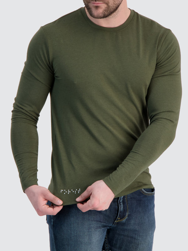 Two Blind Brothers - Mens Men's Long Sleeve Crewneck Tee Forest