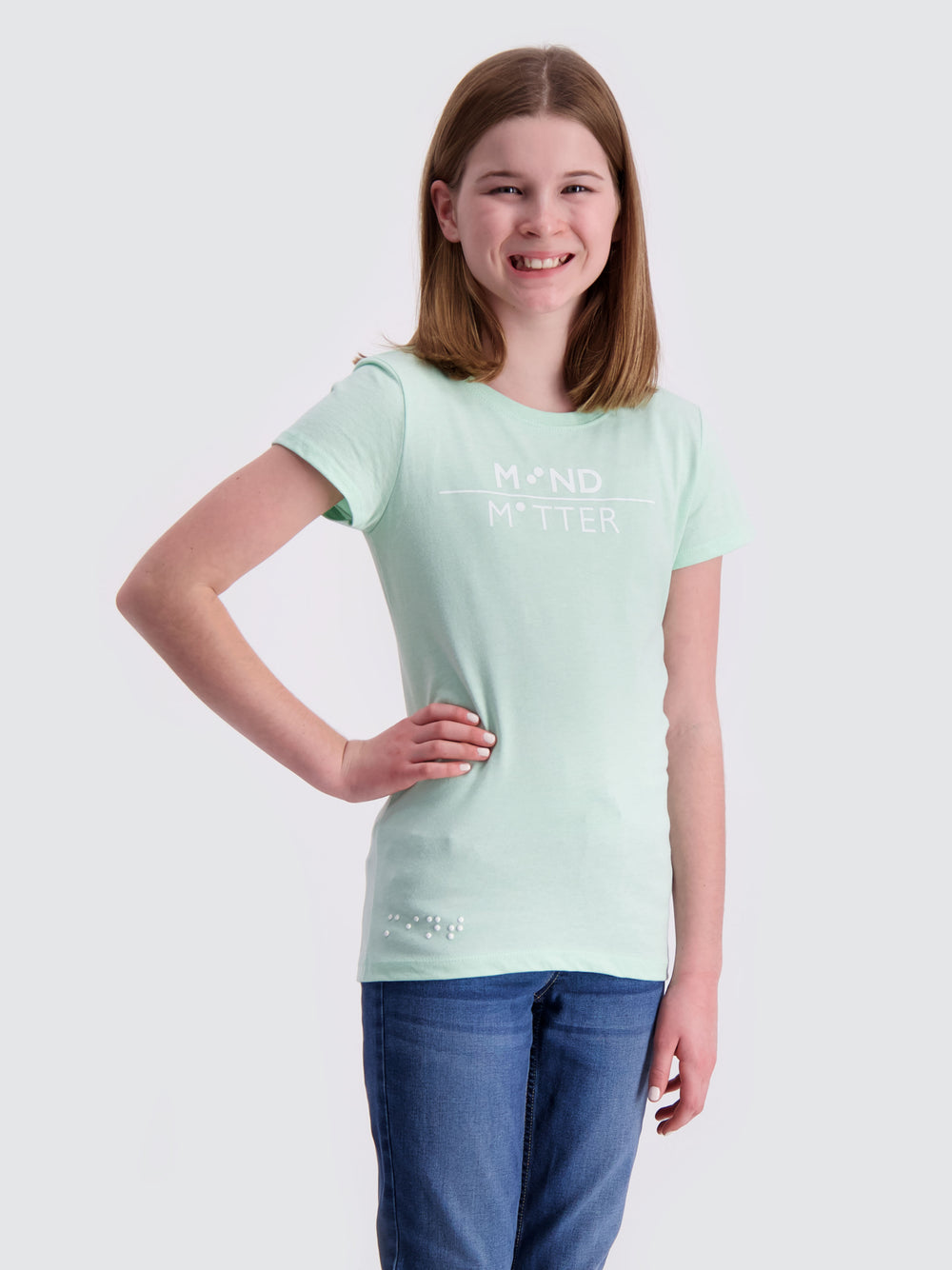 Two Blind Brothers -  Girls' Mind Over Matter Graphic Tee Girls'-Mind-Over-Matter-Graphic-Tee