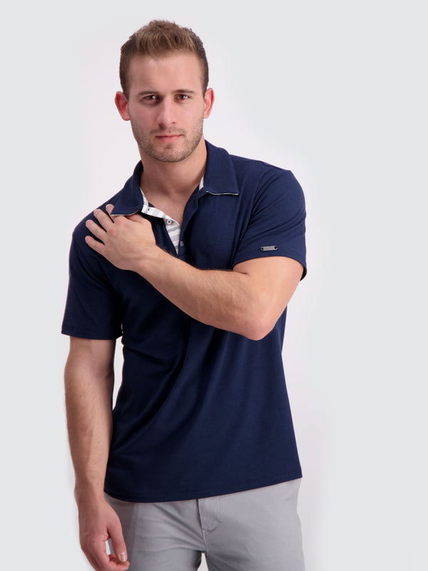 Two Blind Brothers - Mens Men's Short Sleeve Polo Navy