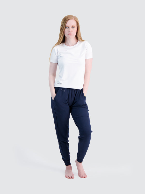 Two Blind Brothers - Womens Women's French Terry Jogger Navy