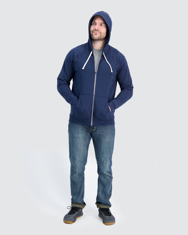 Two Blind Brothers - Mens Men's Zip-Up Hoodie Navy