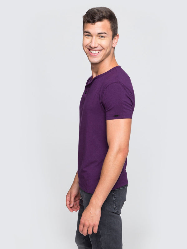 Two Blind Brothers - Mens Men's Short Sleeve Henley Charles