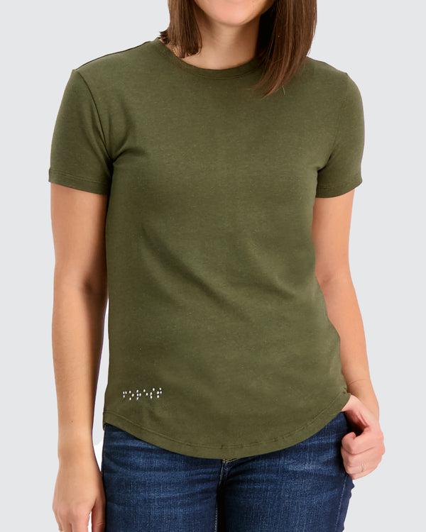 Two Blind Brothers - Womens Women's Short Sleeve Crewneck Forest