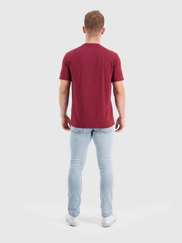 Two Blind Brothers - Mens Men's Short Sleeve Crewneck Tee Maroon