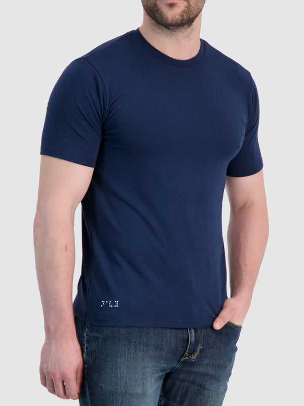 Two Blind Brothers - Mens Men's Short Sleeve Crewneck Tee Navy