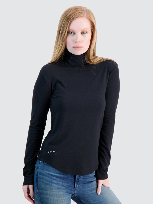 Two Blind Brothers - Womens Women's Turtleneck Black