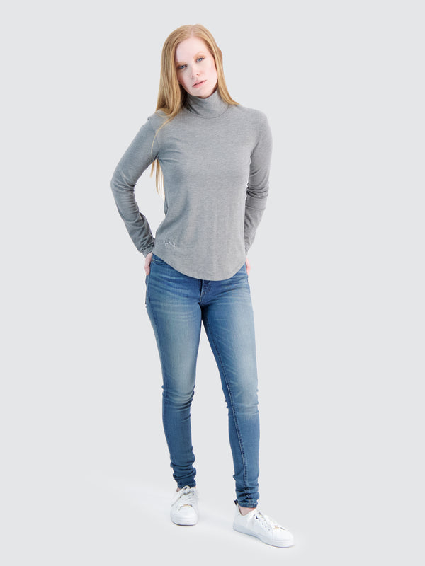 Two Blind Brothers - Womens Women's Turtleneck Medium-Grey-Heather
