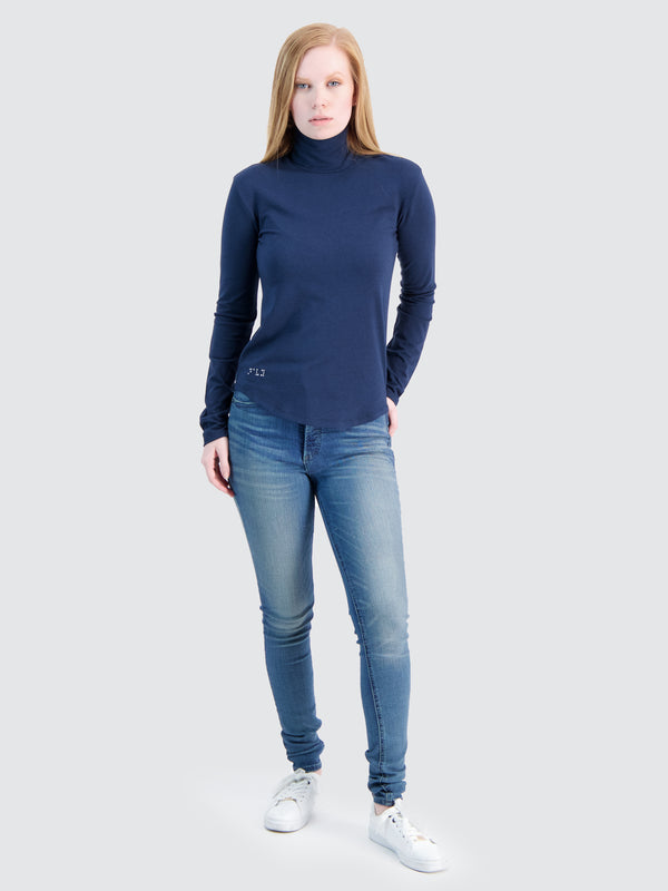 Two Blind Brothers - Womens Women's Turtleneck Navy