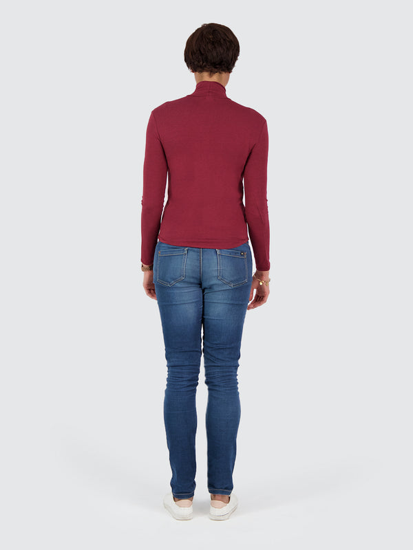 Two Blind Brothers - Womens Women's Turtleneck Maroon