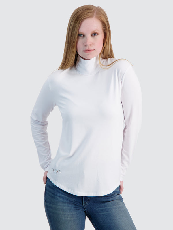 Two Blind Brothers - Womens Women's Turtleneck White