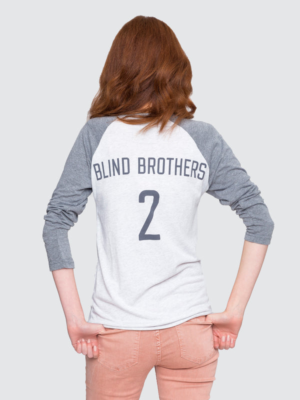 Two Blind Brothers - Womens Team 2BB Graphic Baseball Tee all