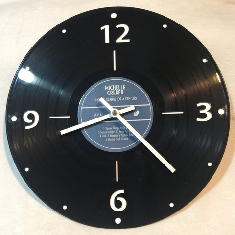 Timeless Vinyl Record Wall Clock