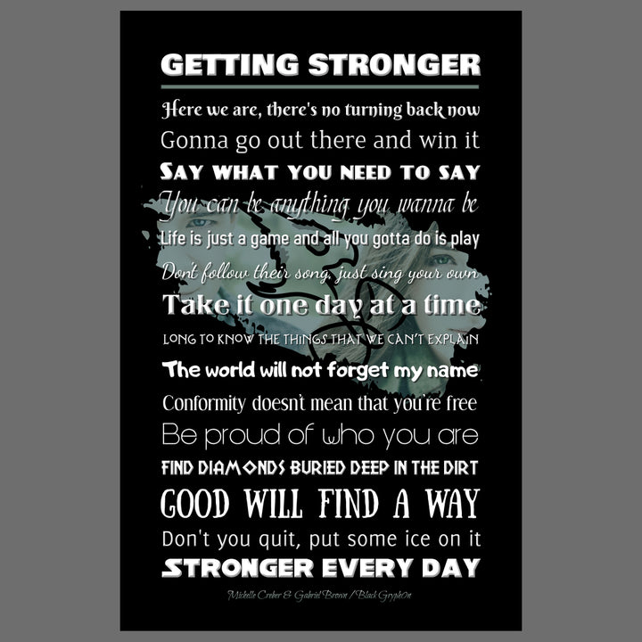 Poster - Getting Stronger Lyrics