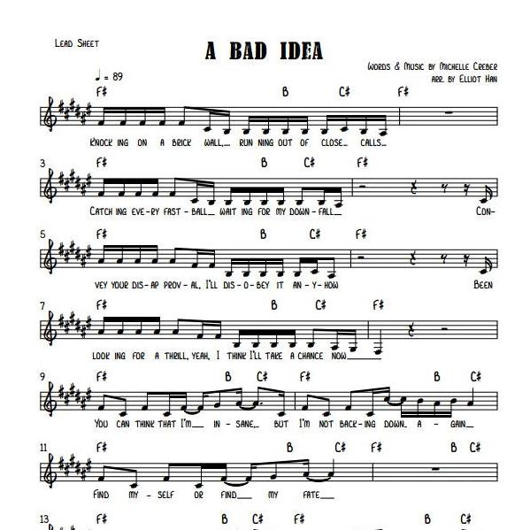 Sheet Music & MIDI - A BAD IDEA