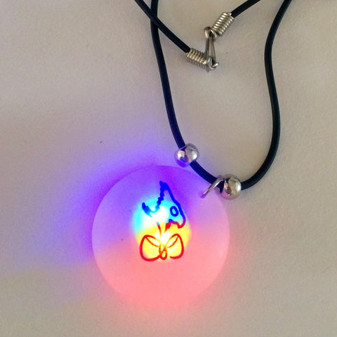 Necklace - Flashing LED Pendant