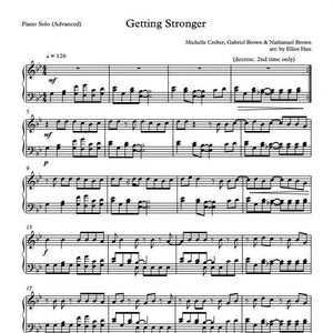 Sheet Music & MIDI - GETTING STRONGER