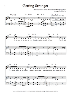 Sheet Music Book - Getting Stronger