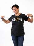 NCMEC #Hope Grey T-shirt Men's and Women's