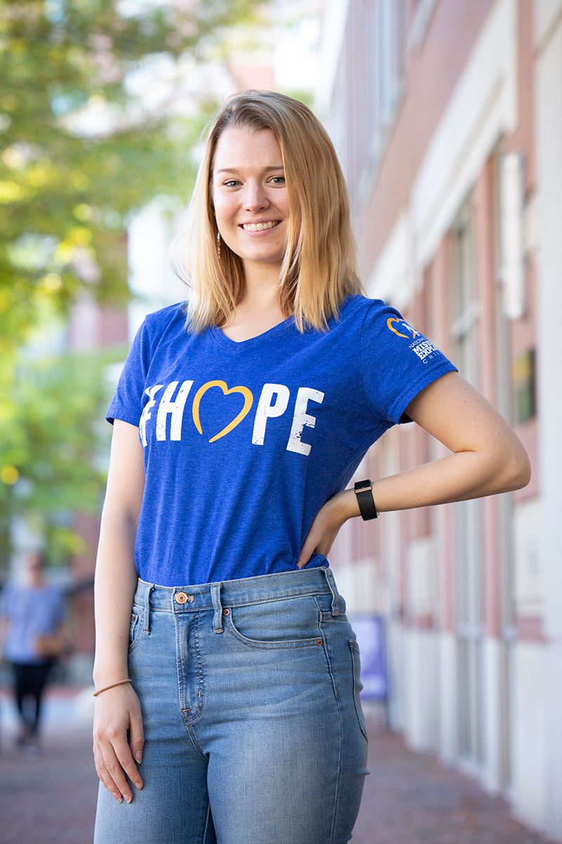 NCMEC #Hope Royal Blue Heather T-shirt