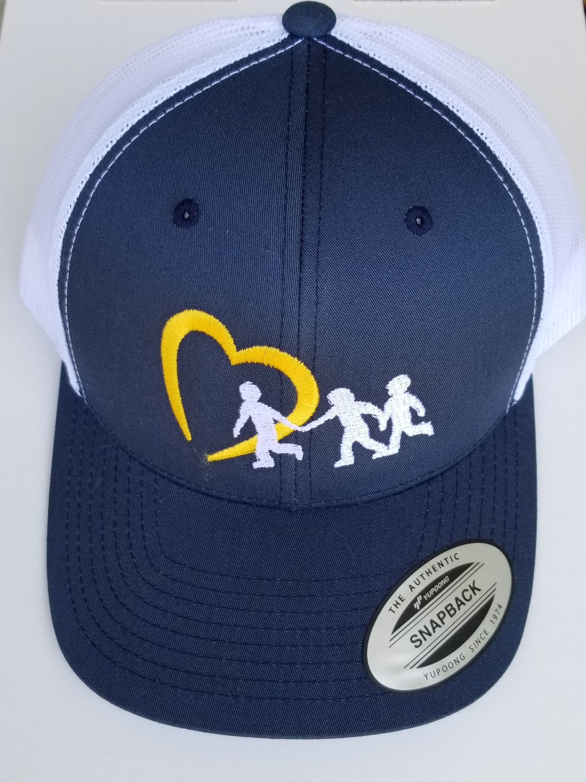 NCMEC Navy & White Snapback Trucker Hat