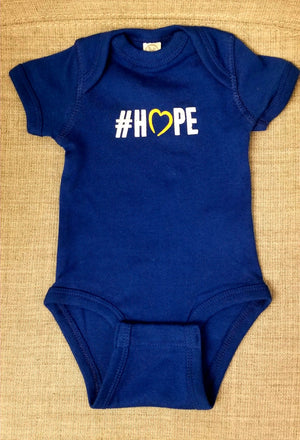 NCMEC #Hope Infant Blue Jersey Onesie