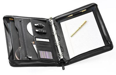 Falcon Bonded Leather A4 Zip Conference Folder