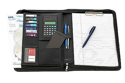 Cornerstone A4 Executive Document/Conference Folder Black