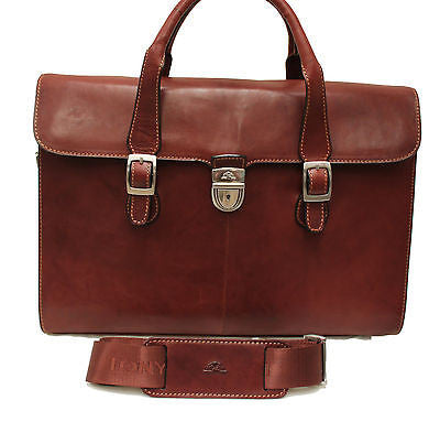 Tony Perotti Italian leather ladies laptop lockable briefcase